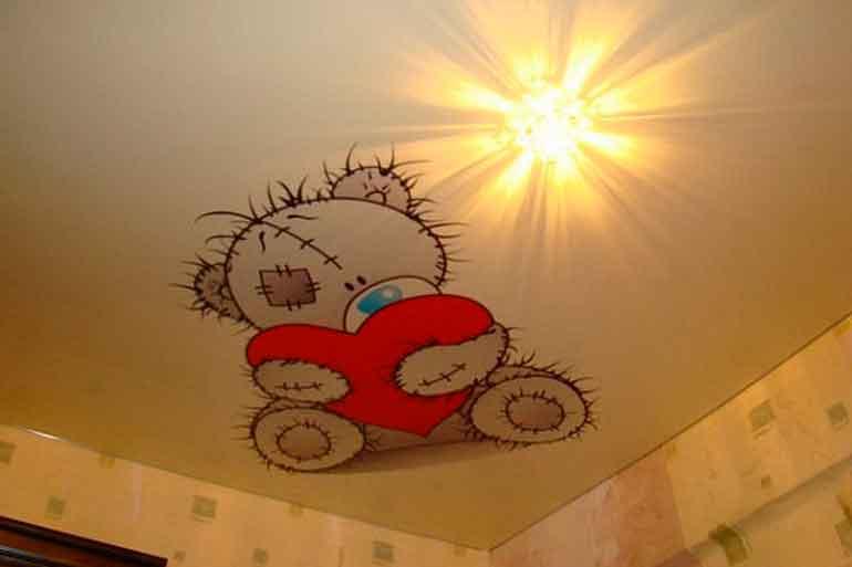 натяжной потолок в ванной цена